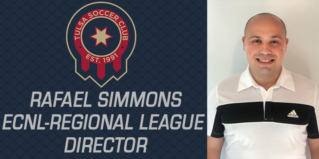Rafael Simmons Joins Tulsa SC as ECNL-RL Director & Coach of Two RL Teams